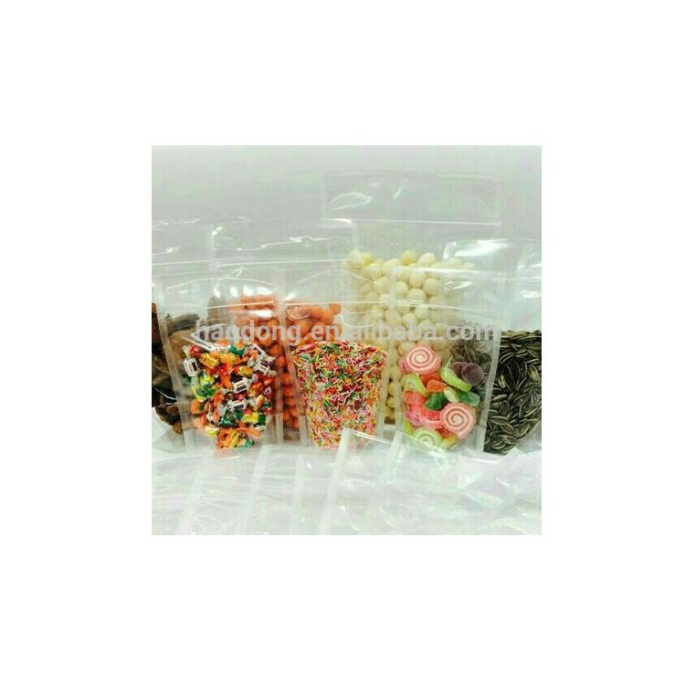 China Manufacturer And Custom Design Clear Stand Up Pouch Plastic Food Bag