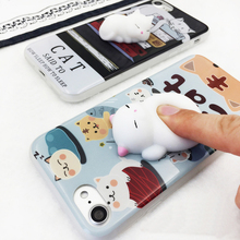 Amazon Hot Prodicts Squishy Animal Toys,Custom 3D Silicone Squishy Finger Pinch Phone Case for iPhone 6/6S