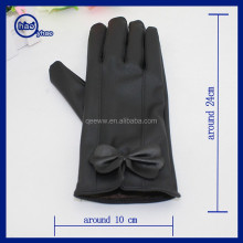 Yhao low moq leather gloves wholesale winter men women touch screen leather gloves for phone pad