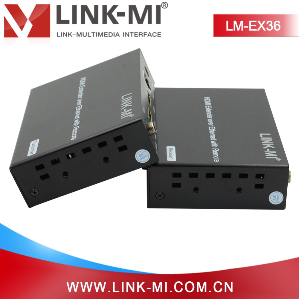 LINK-MI LM-EX36 hdmi transmitter and receiver support IR 120m over TCP IP utp cat6 ethernet extender