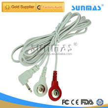 two in one 2.5mm lead plug tens electrode wire