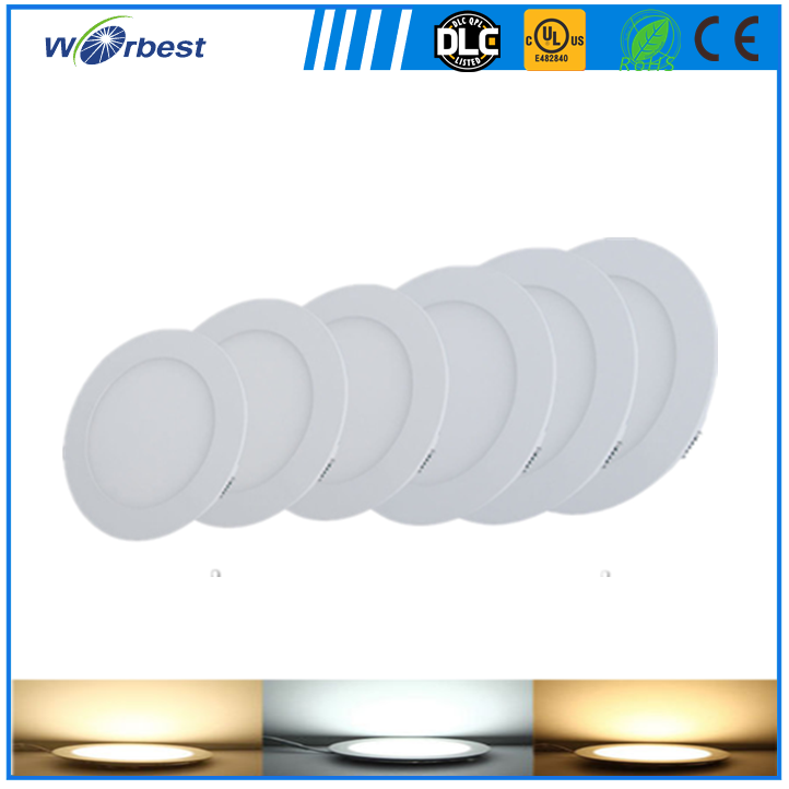 CE RoHS small round led panel light 3W energy saving home lighting