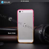 mobile phone customized pc cover transparent hard case for iphone5/5s , custom phone case