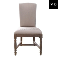 antique style nail design high back dining room chair / hand carved wooden furnitures