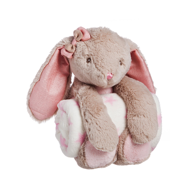 Wholesale cheap soft elephant monkey bunny rabbit animal <strong>plush</strong> toy with blanket