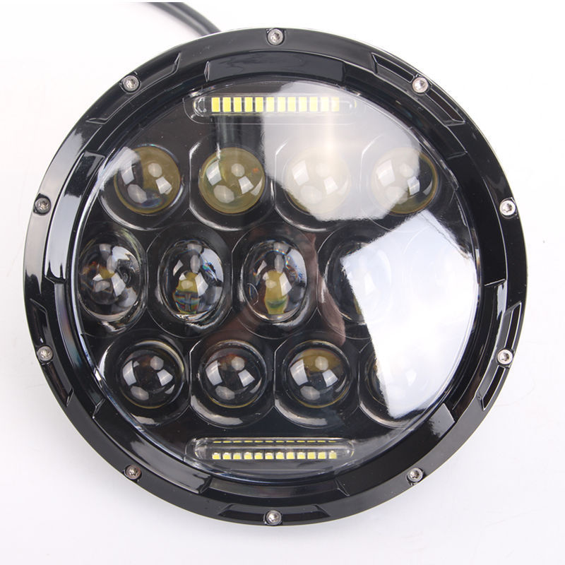 Best quality land defenders with DRL led round headlights 7 inch for Wrangler JK TJ Motorcycle