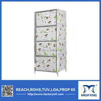 Bright color high quality hand painted chest of drawers