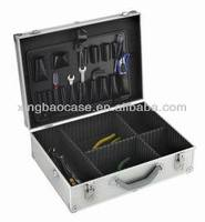 Silver aluminium tool case /attache case hard briefcase