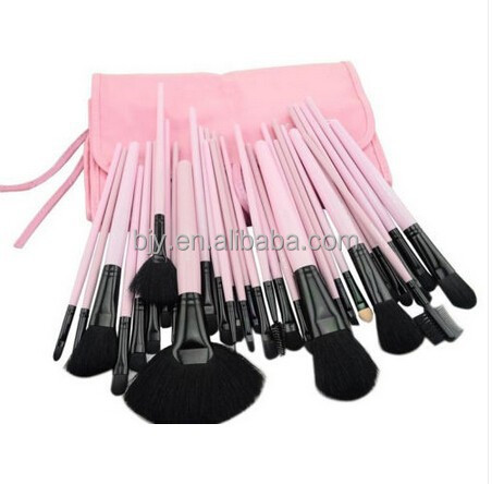 32Pcs Pincel Maquiagem Professional Cosmetic Makeup Brushes Set Kit Case Pink Leather Face Care Make Up Brushes
