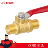 factory stock gas brass oven/cooker/stove valve brass gas valve with nickel-plated BSP thread connection in TMOK