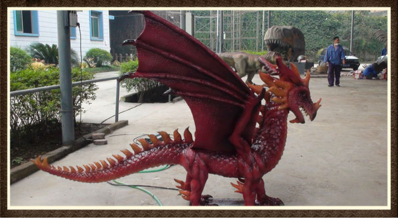 Hot sell lifesize dragon for amusement