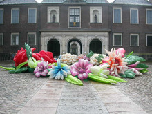 giant custome Inflatable flower chain decoration