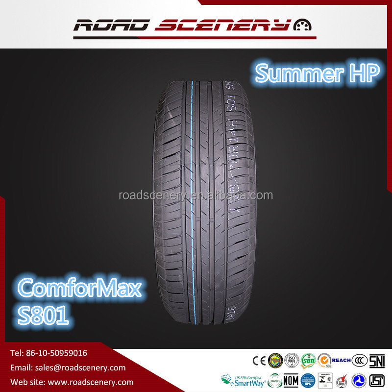 Habilead passenger radial car tyre 185/70R14 88H with High Performance summer range car tyre comfortmax s801 and EU lable