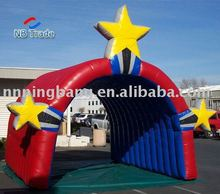 Loverly red inflatable arch with star for kids