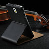 Smooth leather case for samsung note3 n9000, stand case for note3, for samsung note3 flip cover