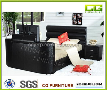 Modern tv beds frame bed with tv in footboard cheap price for Cheap tv bed frame only