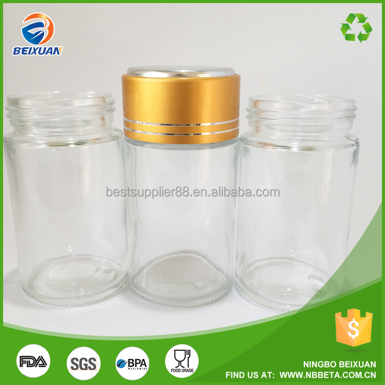 100ml High-grade Transparent Glass Health Care Products Bottle with Aluminum Cap