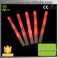 Product Printed Plastic flashing led foam stick, foam glow stick, custom led light stick