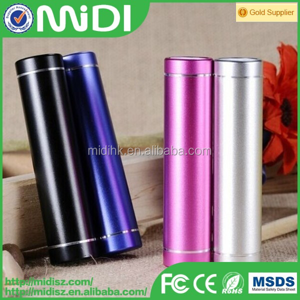 new design small size cylinder power bank 2600mah for mobile phone