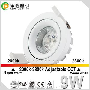 Anti-glare 75mm cutout 32mm height cct dimming led downlight IP44 5 yrs warranty