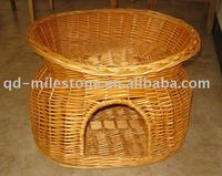 hot sale new oval wicker dog bed or wooden dog basket