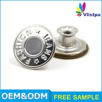 fashion pearl ring prong fastener jacket 15mm snap button custom logo