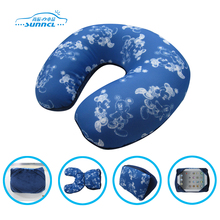 Custom u shape funny car inflatable neck pillow, personalized memory foam travel neck pillow