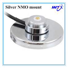 Silver NMO magnet mount with 5M RG58 cable mini UHF car roof NMO antenna base mount