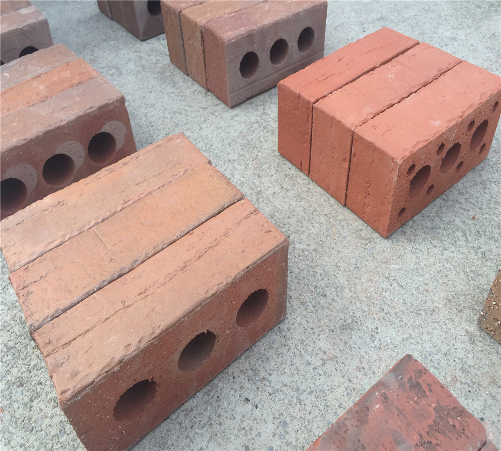 Red Exterior Wall Brick Veneer With Varity Colors For Decorative