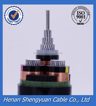 High voltage XLPE insulated aluminum core electrical power cable