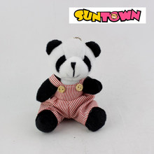 lovely panda with dress, plush toy parent-child panda for kids