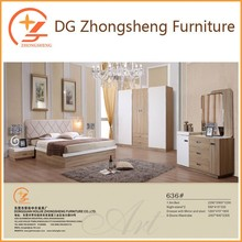 high gloss white laminated bedroom furniture for Middle East 636