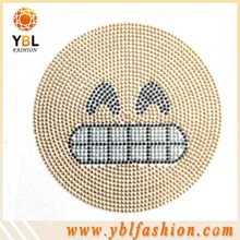 emoji design iron on press transfer for kids clothing decoration