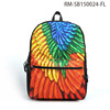 Custom Fashion Printed Color Life Laptop High School Bags Backpack