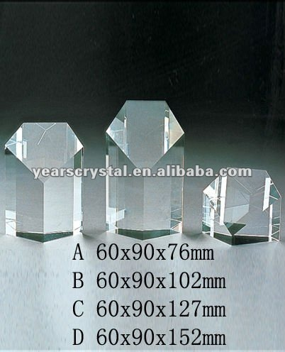 Yiwu Market Blank Glass Crystal Awards Plaque(R-0389)