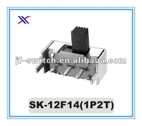 1p2t 3 pin slide switch Sk-12F14(1P2T)