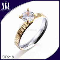 New Design Diamond Engagement Tat 18K Gold Ring