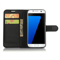 Leather Contracted fashion wallet style Soft and comfortable flip leather cover for samsung galaxy s7 edge plus