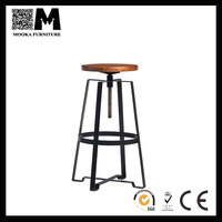 Vintage Kitchen Swivel Industrial Metal Singer Bar Stool and Chair