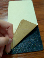 Sticky rubber material with glue for sound reduction and thermal insulation