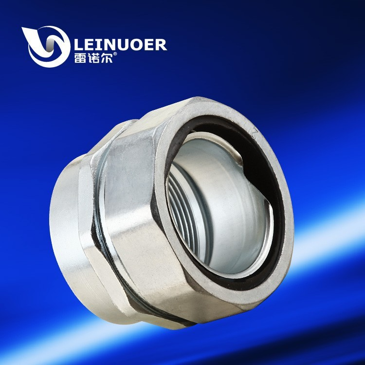 Inner threaded zinc alloy union metal joint fitting connector for metal conduit