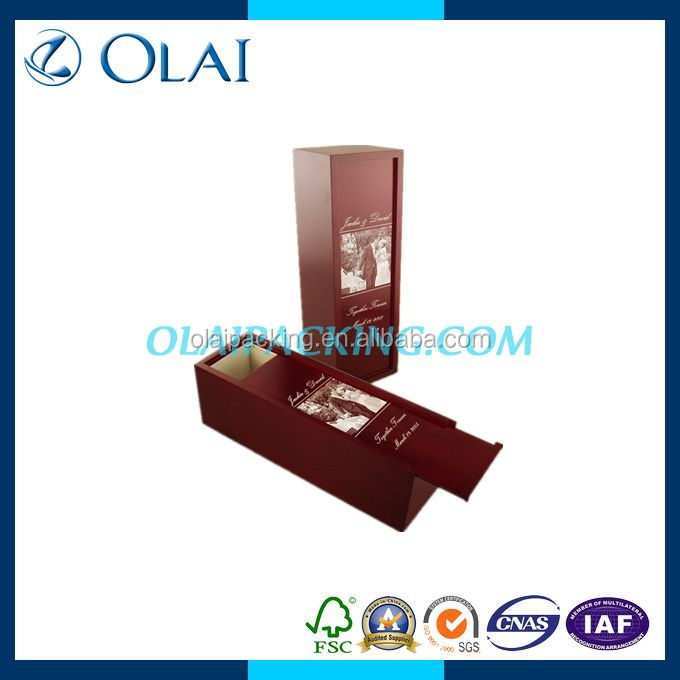 high-glossy attractive wooden wine box manufacturer