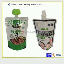 food grade leak proof soybean packing spout pouch bag