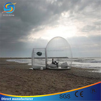Igloo inflatable clear tent with blower