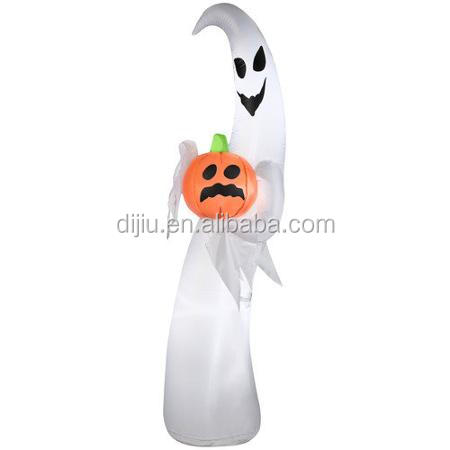 Dijiu Ghost with Pumpkin Airblown Inflatable Halloween Decoration