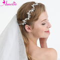 Charming Wedding Headband Rhinestone Resin Stone Bridal Hair Vine Tiara Women Headpiece For Dress Hair Accessories