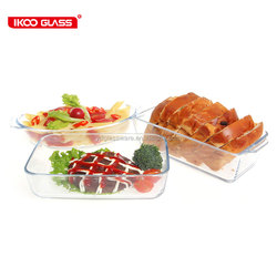 wholesale housewares kitchen appliance reheated tableware glass baking dish plate