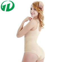 Wholesale adjustable straps Snap Crotch Slim Ladies Bodysuit Shaper