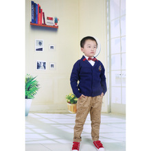 Crochet baby cardigan design pattern couple clothing cottonvest school uniform sweater