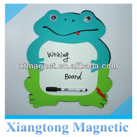 Cute Eco Friendly Green Fancy Frog Fridge Magnetic Writing Board, Magnetic Drawing Board